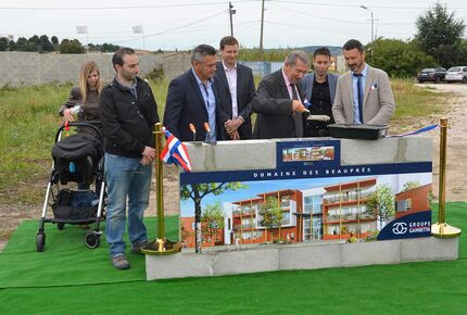 pose première pierre programme immobilier neuf domaine beaupres